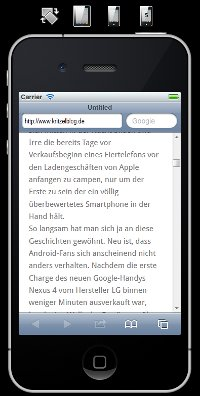 Mobile Browser testen