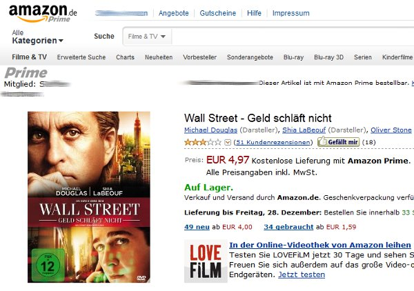 Amazon Produktseite