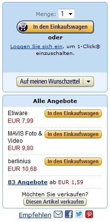 Amazon Warenkorb