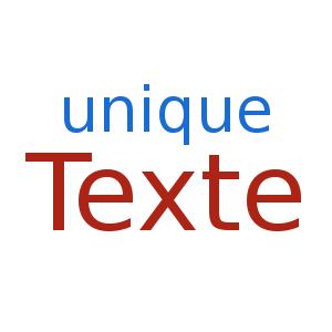 unique texte