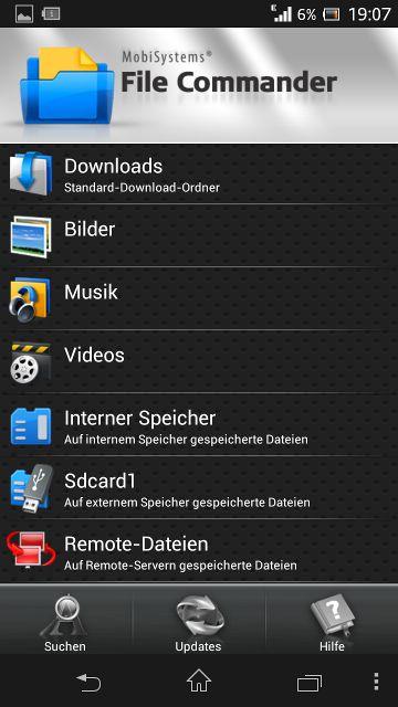 Xperia Screenshot Unterordner