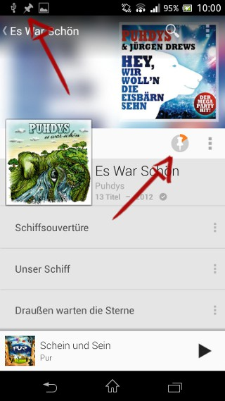 Google Play Music Download läuft