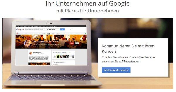 Google Places Eintrag für Unternehmen