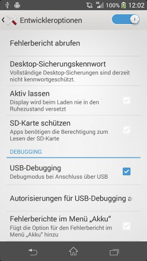 Android USB-Debugging