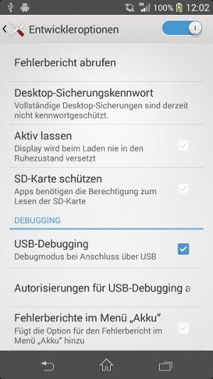 Android USB-Debugging
