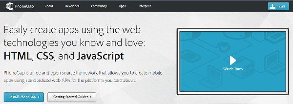 Phonegap Webseite