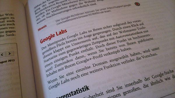 Webmaster Tools Buch innen