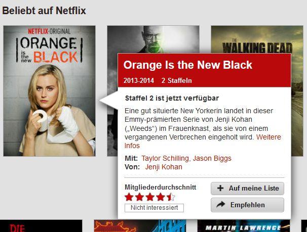 Netflix Filminfo