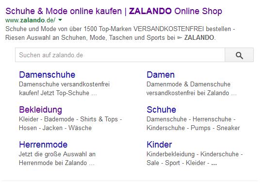 Zalando Searchbox