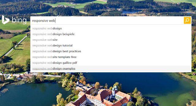 Bing Responsive Webdesign
