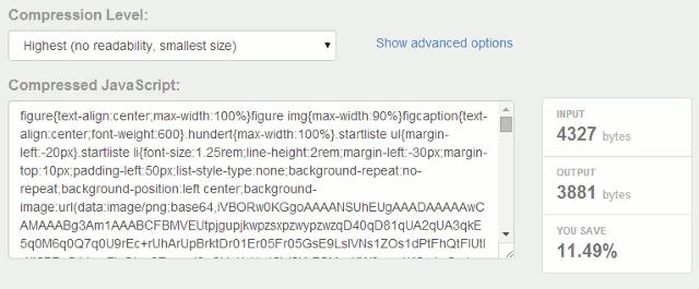 CSS komprimiert