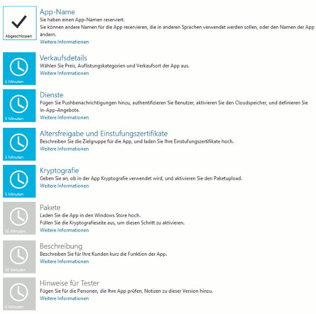 Windows App Store App einstellungen
