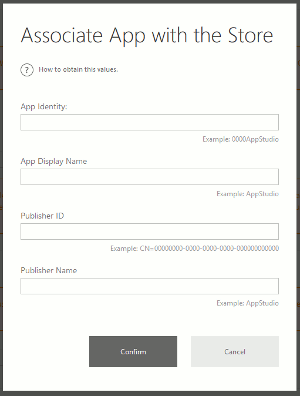 Windows App Studio Store Verbindung