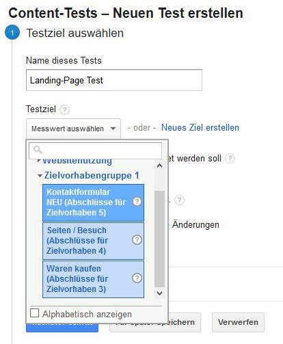Website-Test Schritt eins