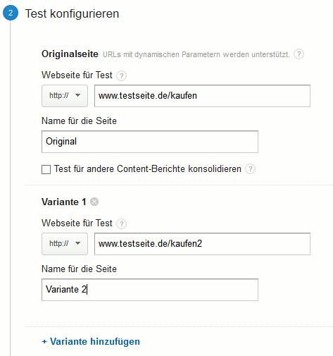 Website-Test Schritt zwei