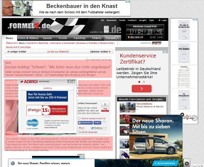 Werbebanner formel1.de