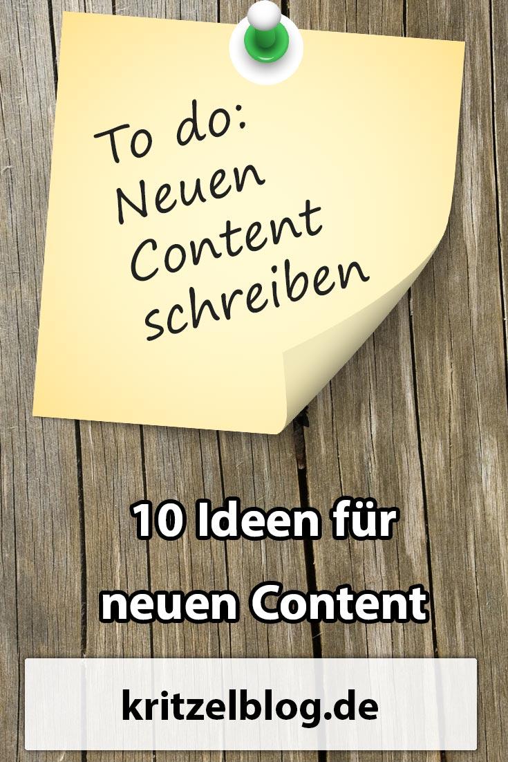 10 Ideen für neuen Content