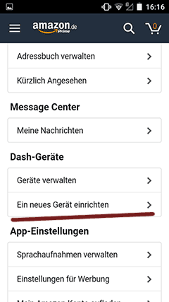Amazon App Dash Geräte