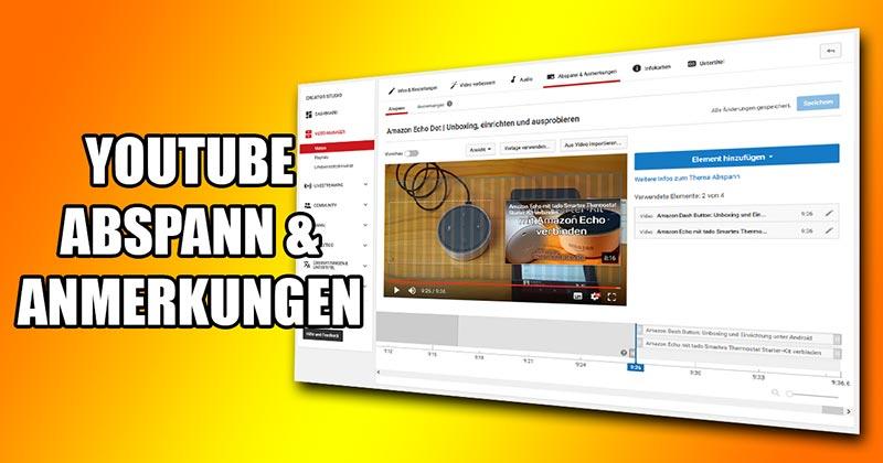 Artikelbild YouTube Abspann