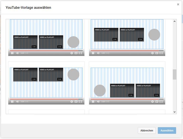 YouTube Abspann Vorlagen