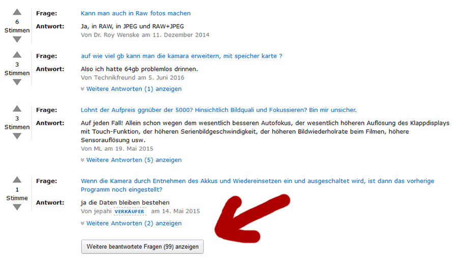 Online Shop Amazon Fragen