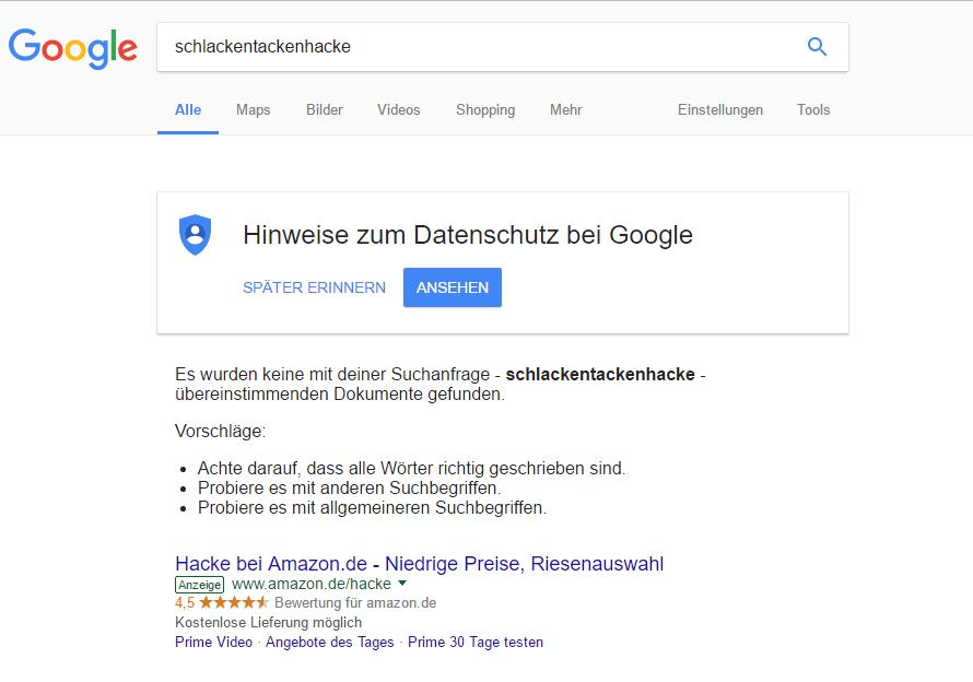 Google Serps Schlackentackenhacke