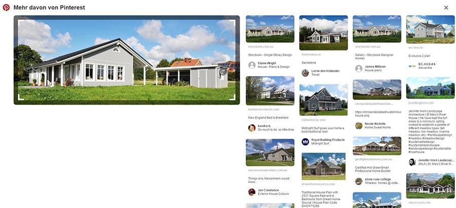 Pinterest visuelle Suche