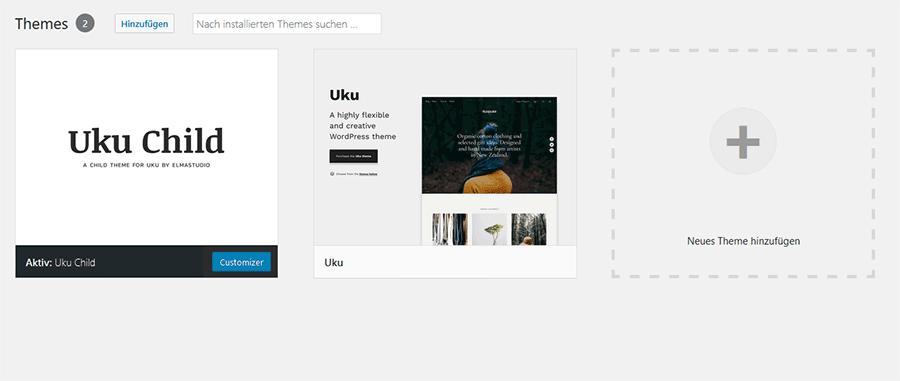 WordPress Theme Übersicht