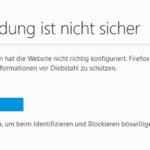 Firefox SSL-Fehlermeldung