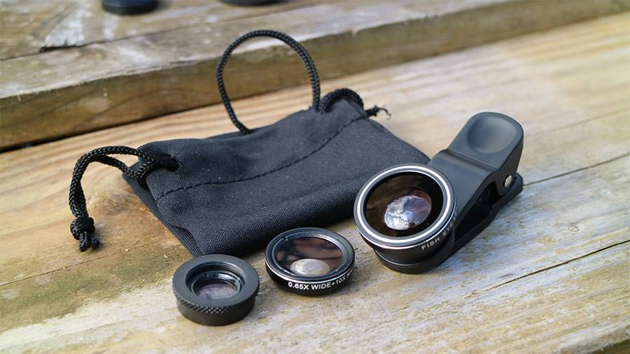 Drei Smartphone-Objektive