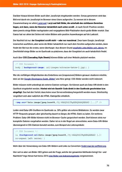 Bilder-SEO Ebook Quelltextoptimierungen
