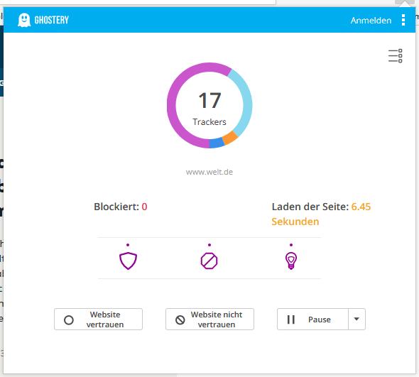 Tracker auf welt.de