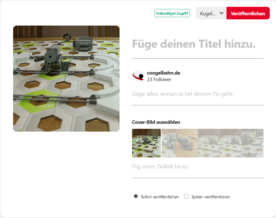 Pinterest Video Uploaddialog
