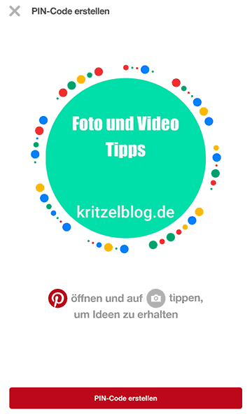 Pincode in der Pinterest-App
