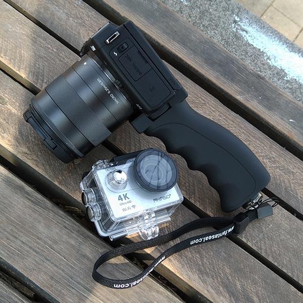 Akaso Actioncam und Canon EOS M3