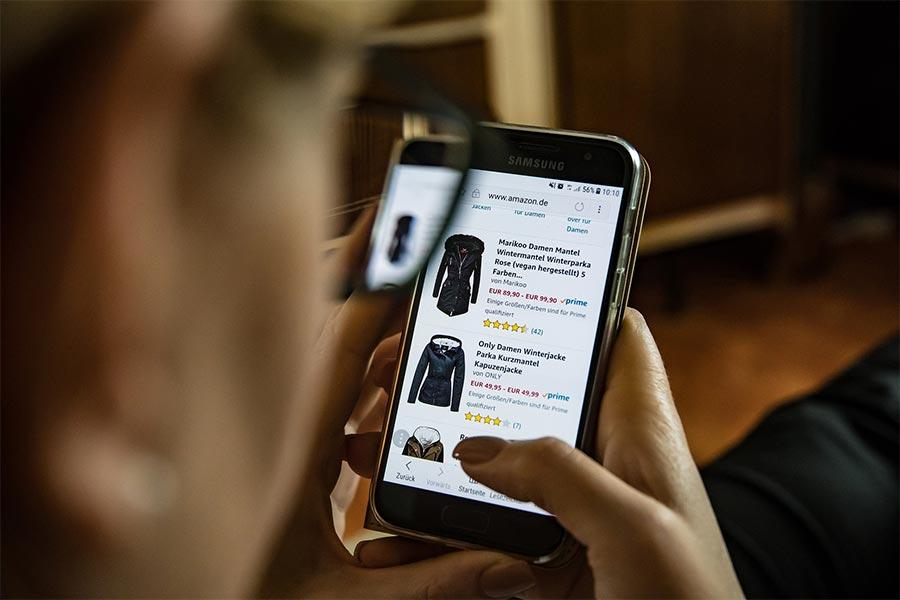 Online einkaufen bei Amazon