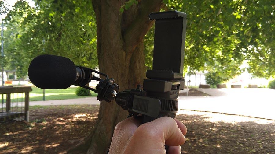 Comica COMICA CVM VM10II Videomikrofon Handgriff