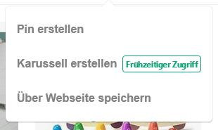 Neue Option: Pinterest Karussell