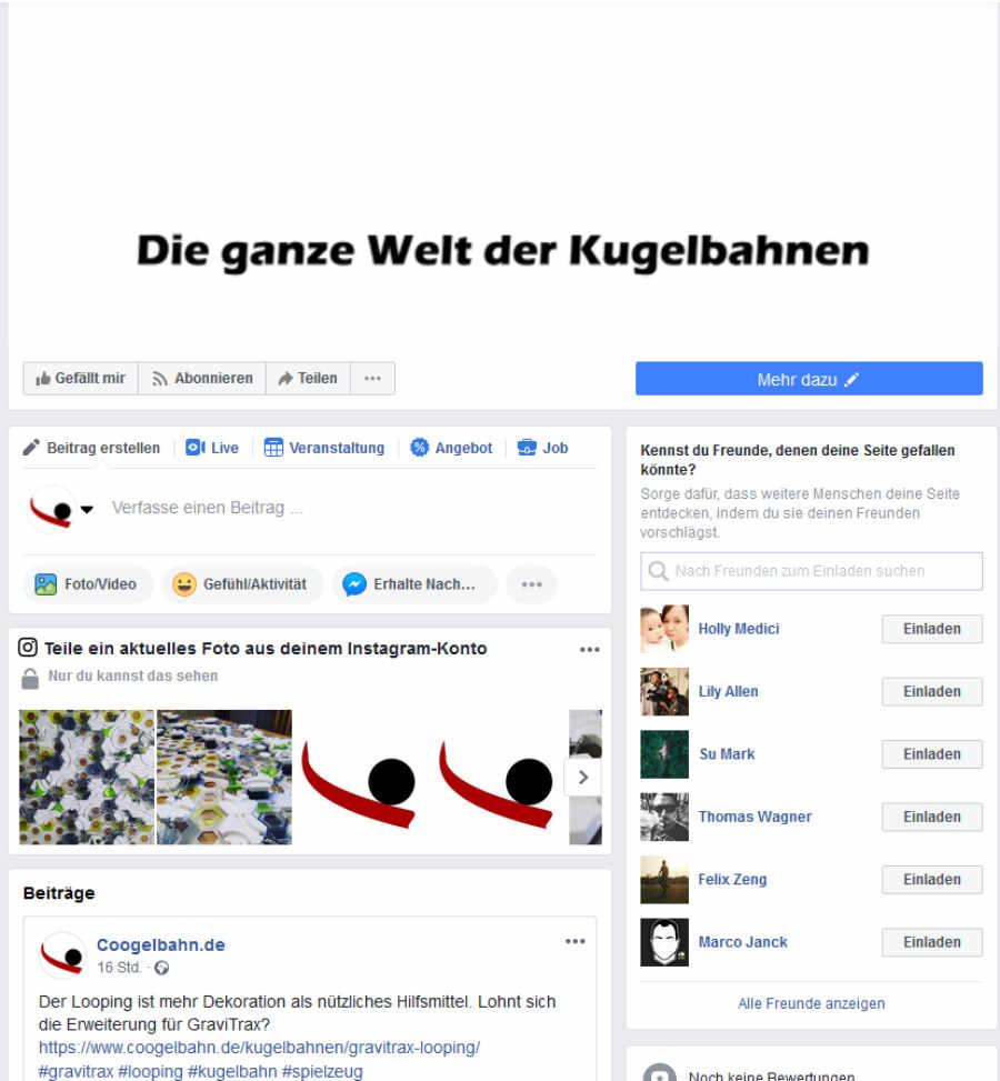 coogelbahn.de auf Facebook