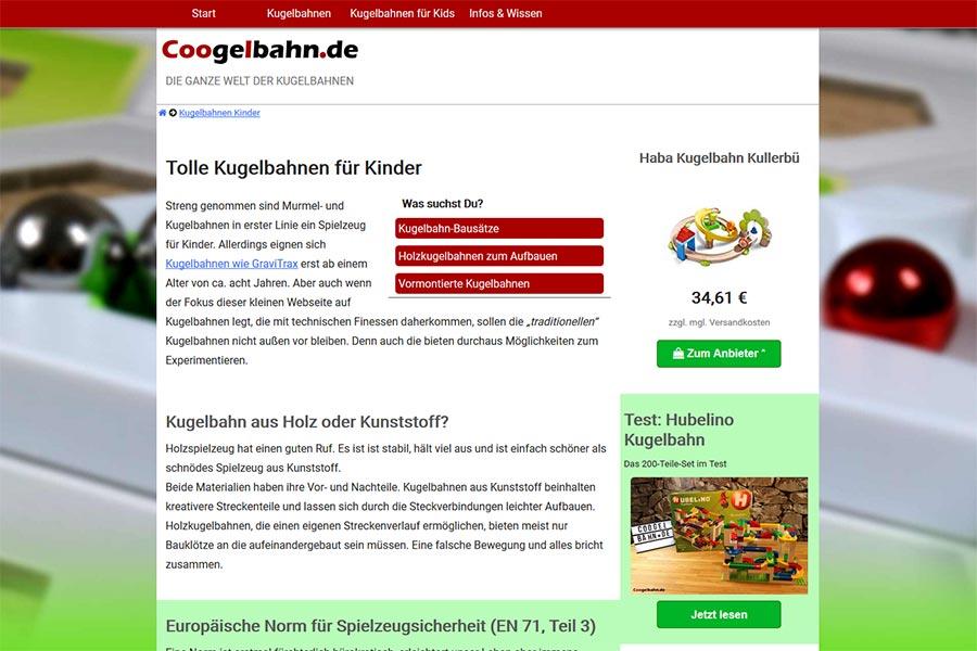 Coogelbahn.de - Die ganze Welt der Kugelbahnen