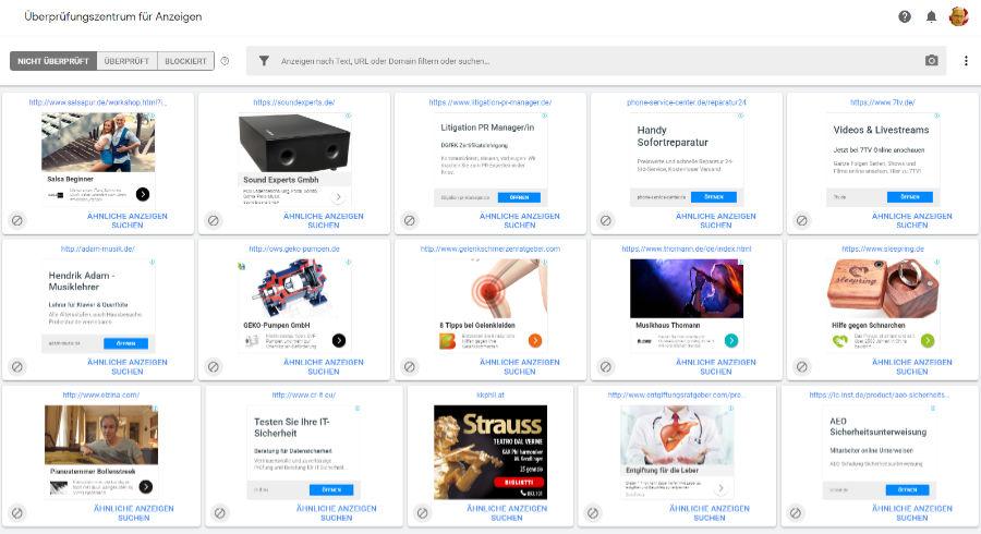 AdSense Anzeigen blocken