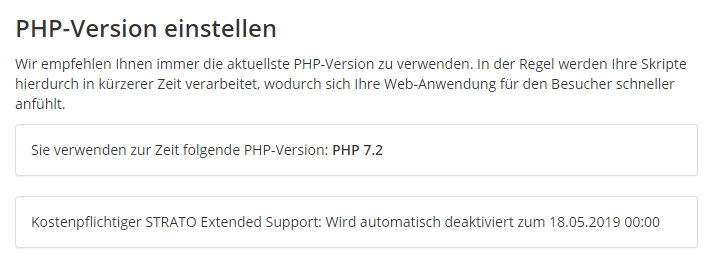 Vier Wochen Extended Support