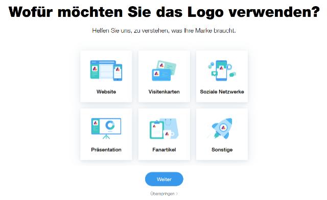 Wix Logo Maker Verwendung