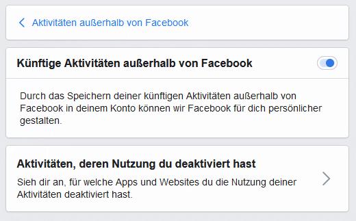 Facebook Pixel deaktivieren Schritt 5