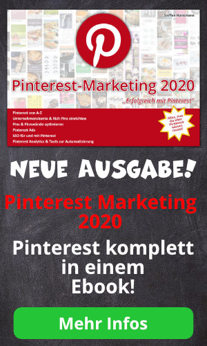 Pinterest Marketing 2020 Ebook für Pinterest